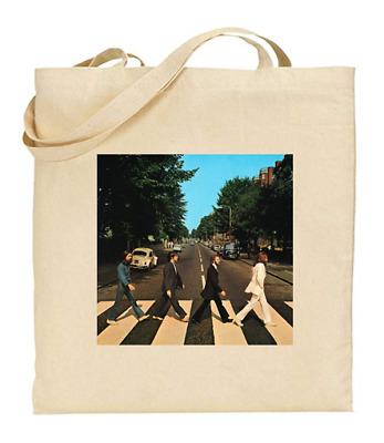 £6.49 • Buy Shopper Tote Bag Cotton Canvas Cool Icon Stars The Beatles Ideal Gift Present