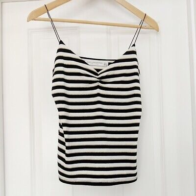 $9.99 • Buy Zara Collection Fancy Gold Cream Black Striped Camisole Women's Size Large