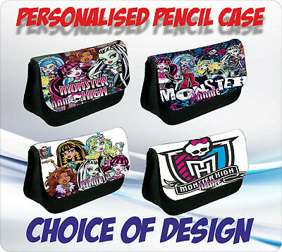 MONSTER HIGH PERSONALISED PENCIL CASE - Choice Of Design • 8.25£