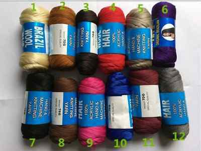 £7.50 • Buy Brazilian Wool Hair Yarn [ 3, 6,& 12 Pieces ] Fast Delivery