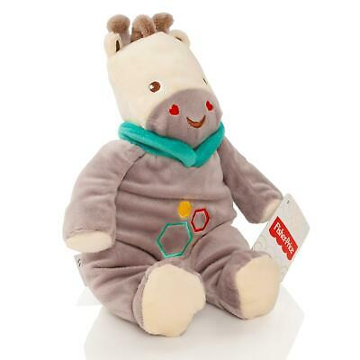 Fisher Price Baby 28cm Giraffe Teddy Bear Soft Toy Plush With Rattle Cuddle Gift • 2.99£