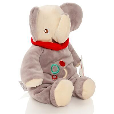 Fisher Price Baby 28cm Elephant Teddy Bear Soft Toy Plush Rattle Cuddle Gift • 4.50£