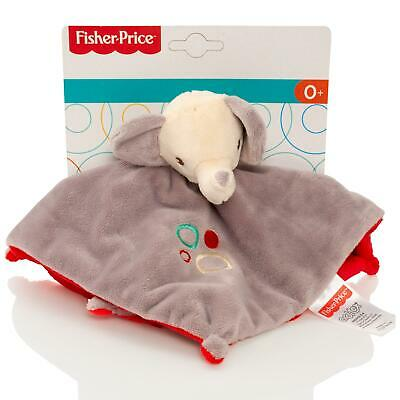 Fisher Price Baby Elephant Comfort Blanket Soft Plush Comforter Rattle Toy • 2.99£