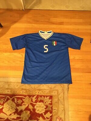 $15.99 • Buy Italy National Team  De Rossi 2011 Blue Soccer Jersey Large RARE #5 Italia