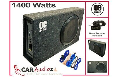 """$209.34 • Buy NEW UPGRADE 12 """"Slim Line Active Amplified Bass Box Sub Car Subwoofer Amp 1400W"""
