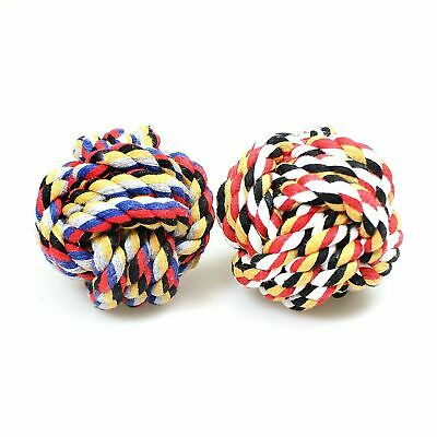 Dog Rope Chew Toys Kit Tough Strong Knot Ball Pet Puppy Cotton Teething Toy 0049 • 2.99£
