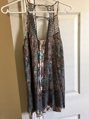 $ CDN22.70 • Buy Anthropologie Green Sleeveless Grey Lace Top Small