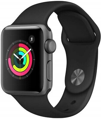 $ CDN335.63 • Buy Apple Watch Series 3 (GPS, 38mm) Space Gray Aluminium Case With Black Sport Band