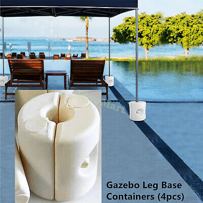 AU49.95 • Buy 4x Gazebo Base Marquee Canopy Tent Fillable Feet Leg Weight Pods Water Sand Base