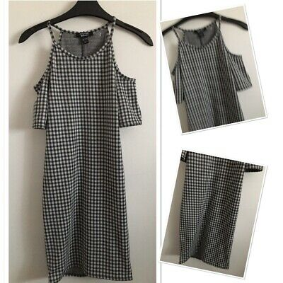 New Look Girls Fashion Checked Cold Shoulder Fitted Dress 12-13 Years  • 3.99£