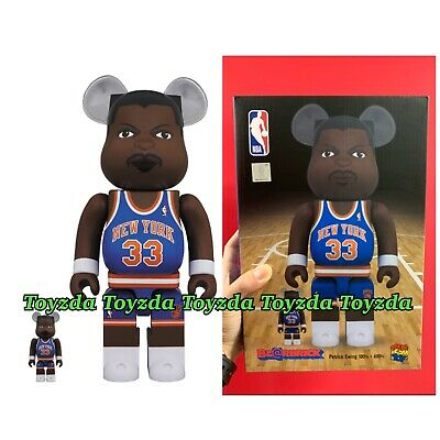 $148.88 • Buy Medicom NBA Patrick Ewing New York Knicks 400% + 100% Bearbrick Be@rbrick Set 2p