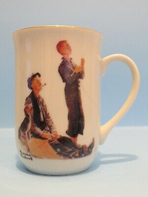 $ CDN8 • Buy Norman Rockwell Mug  Grand Pals  Flight Of A Kite, 4  Tall