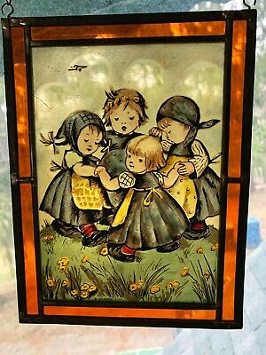 $25 • Buy 1986 M.J. Hummel West Germany Hand Painted Stained Glass Ars Edition