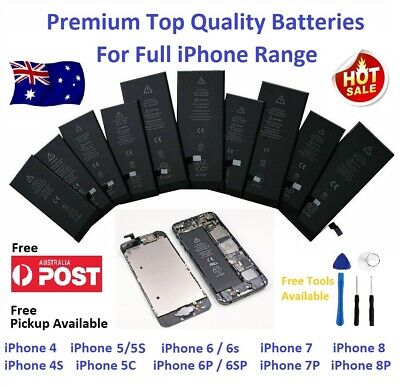AU16 • Buy Premium Full Capacity OEM Battery Replacement For IPhone 4, 5, 6, 7 And 8  Local