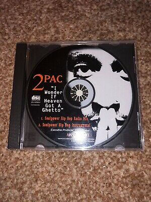 2Pac - I Wonder If Heaven Got A Ghetto - US 2 Track Promo CD - Near Mint - Tupac • 10£