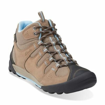 Clarks Outlay North Beige Nubuck Ladies Walking Boots Size UK 4 1/2D • 36.95£