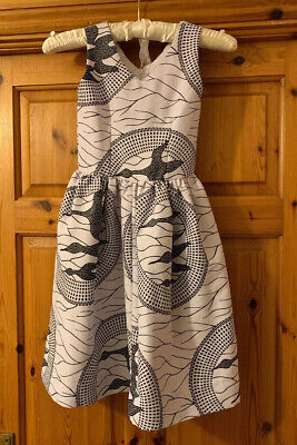 Girls Authentic Ghana/west African Girls Dress Approx Age 5-6 Blk&wht • 10£