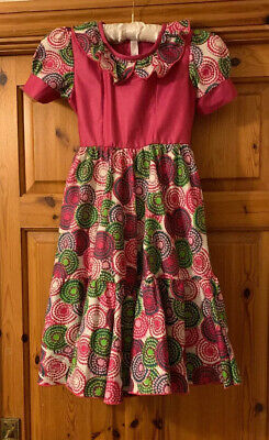 Girls Approx Age 4-5 West African/ghanian Tailoured Dress • 10£