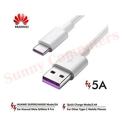 AU9.24 • Buy Genuine USB-C Adapter Cable 5A Power Charger Data Cord For Huawei Y9 Prime(2019)