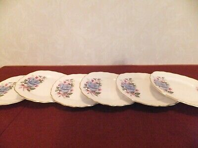 Royal Vale Ridgway Pottery Blue Rose Side Plate X 6 • 9.75£