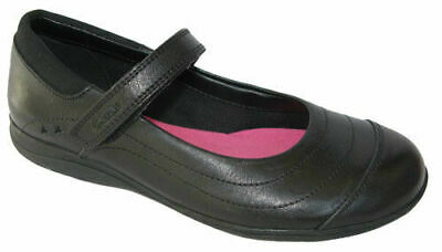 Clarks Girls School Shoes Daisy Dena Black Leather Size UK 1 1/2H • 23.99£