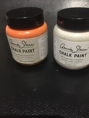 Annie Sloan Paint 2 X 100ml Paint Pots -Barcelona Orange & Country • 17.90£