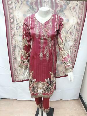 Pakistani Indian Clothes Designer Suit Casual Party Dress Stitched Shalwar Kamee • 24.99£