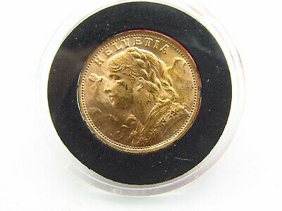 $344.99 • Buy 1935 LB Swiss Helvetia Gold 20 Franc Coin BU Uncirculated HIGH GRADE .1867Agw Z4