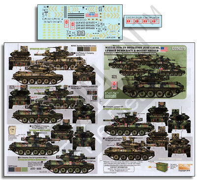 $12.72 • Buy Decals For 1/35 M551A1 Ttss In Op Just Cause, Uphold Democracy & Desert Shield