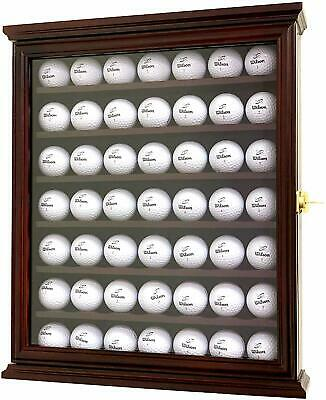 Golf Ball Display Case Cabinet Wall Rack Holder UV Protection Lockable • 43.38£