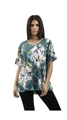 Ladies Round Neck Tee Top Shortsleeve Fashion All Colours Prints Sizes Available • 6.99£