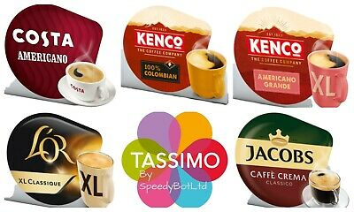 Tassimo Black Coffee Selection Variety Bundle Capsules T-Discs Pods 40 Drinks ☕ • 15.41£