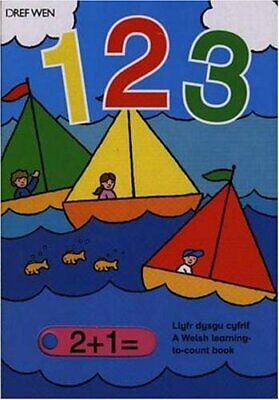 123 Llyfr Dysgu Cyfrif: A Welsh Learning-to-count Book Hardback Book The Cheap • 8.49£