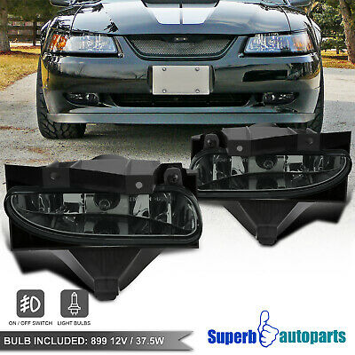 $32.98 • Buy For 1999-2004 Ford Mustang Fog Lights Driving Lamps GT V6 Smoke Switch