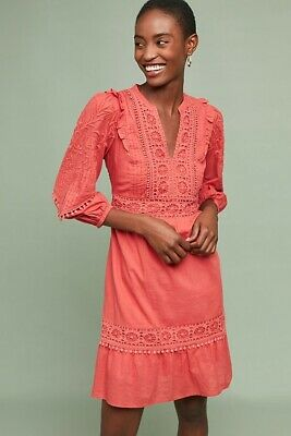 $ CDN63.86 • Buy Anthropologie Josephine Embroidered Dress Size S