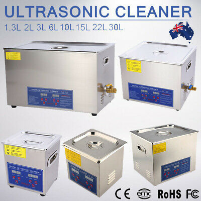 AU73.49 • Buy Digital Stainless Ultrasonic Cleaner Ultra Sonic Bath Cleaning Tank Timer Heate