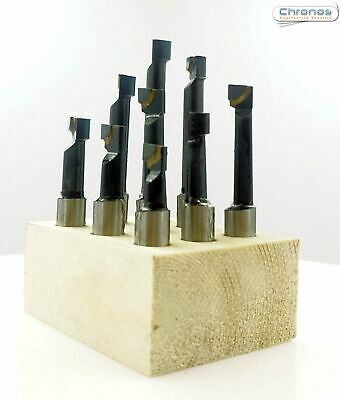9pc TCT Boring Bar Sets With 3/8 Dia Shanks Lathe Milling Machine From Chronos • 18.99£