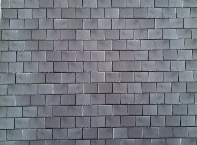 $6.50 • Buy Dollhouse Miniature Gray Slate Roof Tiles Embossed Card 1:12 Scale Roof Shingles