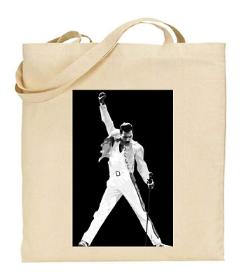 £6.49 • Buy Shopper Tote Bag Cotton Canvas Cool Icon Stars Queen Mercury Ideal Gift Present