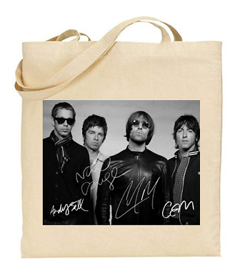 £6.49 • Buy Shopper Tote Bag Cotton Canvas Cool Icon Stars Oasis Band Ideal Gift Present