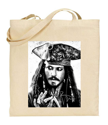 £6.49 • Buy Shopper Tote Bag Cotton Canvas Cool Icon Stars Johnny Depp Ideal Gift Present