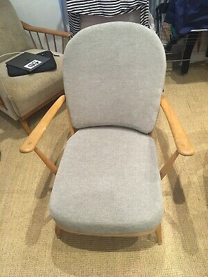 Mid Century Ercol Windsor Armchair Blond With Cushions • 92£