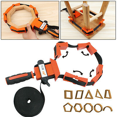 £9.29 • Buy Picture Frame Woodworking Band Strap Clamp Ratchet Corner Miter Mitre Vise Tool