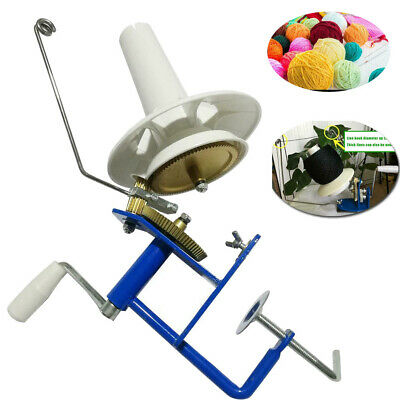 Large Metal Yarn Fiber String Ball Wool Hand Operated Cable Winder Machine Knit • 37.15£