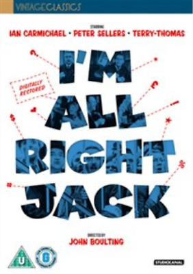 Ian Carmichael, Miles Malleson-I'm All Right Jack DVD NEW • 11.28£