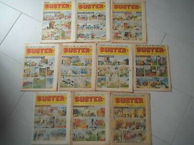 1969 1970 Comic Magazines BUSTER And Giggle - 10 Comics In Nice Condition • 13.50£