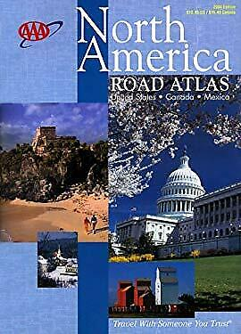 AAA North America Road Atlas : United States, Canada, Mexico 2000 Paperback • 6.36£