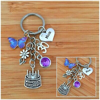 30th BIRTHDAY Gifts Charm Keyring For Daughter Sister Niece Friend Gift For Her • 4.49£