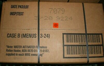 $89.99 • Buy Military MREs Meal Ready To Eat Camping Survival B Case 12 Meals 3/2020 Inspect.
