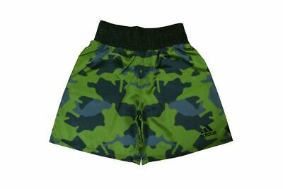 Adidas Satin Boxing Shorts Camo Amateur Pro Adults Mens Elasticated With Cord • 28.99£